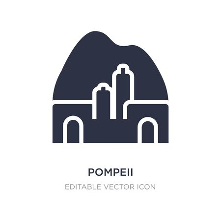 pompeii icon on white background. Simple element illustration from Monuments concept. pompeii icon symbol design. 矢量图像