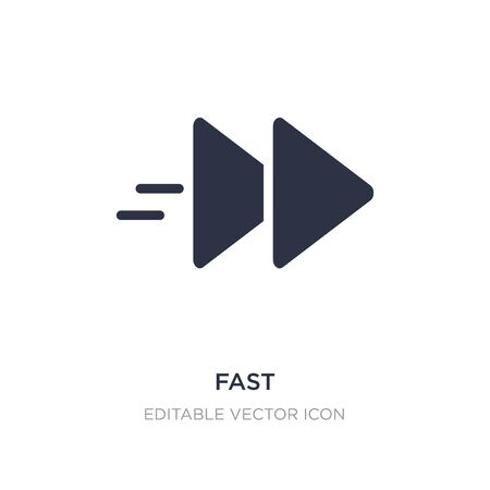 fast icon on white background. Simple element illustration from Multimedia concept. fast icon symbol design.