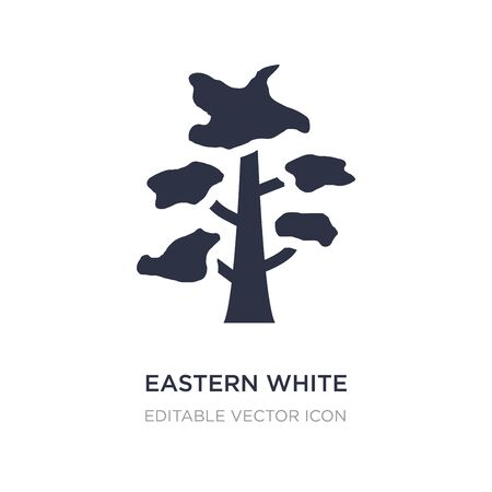 eastern white pine tree icon on white background. Simple element illustration from Nature concept. eastern white pine tree icon symbol design. Stock Vector - 135567768