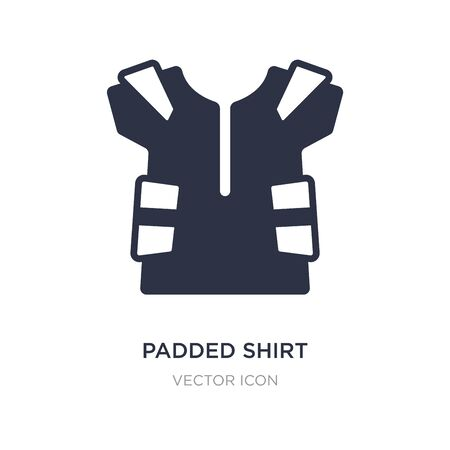 padded shirt icon on white background. Simple element illustration from American football concept. padded shirt sign icon symbol design.