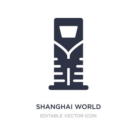 shanghai world financial center icon on white background. Simple element illustration from Monuments concept. shanghai world financial center icon symbol design.  イラスト・ベクター素材