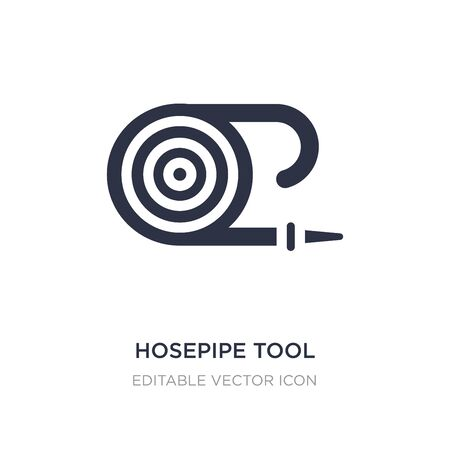 hosepipe tool to extinguish fire or gardening icon on white background. Simple element illustration from Tools and utensils concept. hosepipe tool to extinguish fire or gardening icon symbol design.