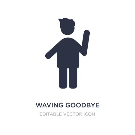 waving goodbye icon on white background. Simple element illustration from People concept. waving goodbye icon symbol design. Vektorové ilustrace