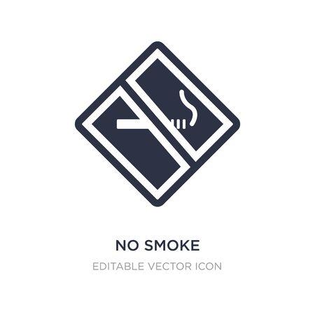 no smoke icon on white background. Simple element illustration from Signaling concept. no smoke icon symbol design.