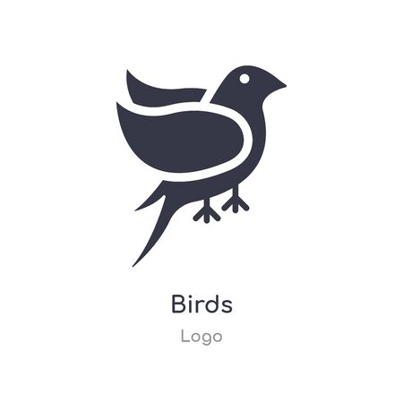 birds icon. isolated birds icon vector illustration from  collection. editable sing symbol can be use for web site and mobile app Ilustração