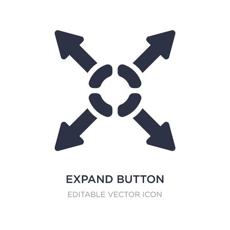 expand button icon on white background. Simple element illustration from UI concept. expand button icon symbol design.
