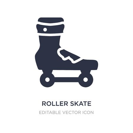 roller skate icon on white background. Simple element illustration from Sports concept. roller skate icon symbol design.