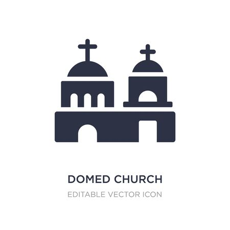 domed church icon on white background. Simple element illustration from Monuments concept. domed church icon symbol design.