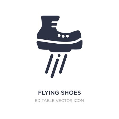 flying shoes icon on white background. Simple element illustration from Sports concept. flying shoes icon symbol design.
