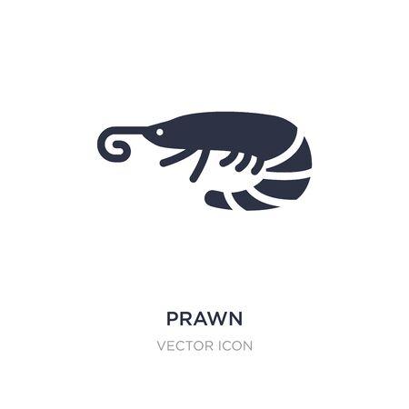 prawn icon on white background. Simple element illustration from Animals concept. prawn sign icon symbol design. Vektorové ilustrace