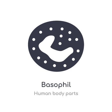 basophil outline icon. isolated line vector illustration from human body parts collection. editable thin stroke basophil icon on white background Vector Illustration