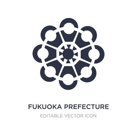 fukuoka prefecture icon on white background. Simple element illustration from Signs concept. fukuoka prefecture icon symbol design.