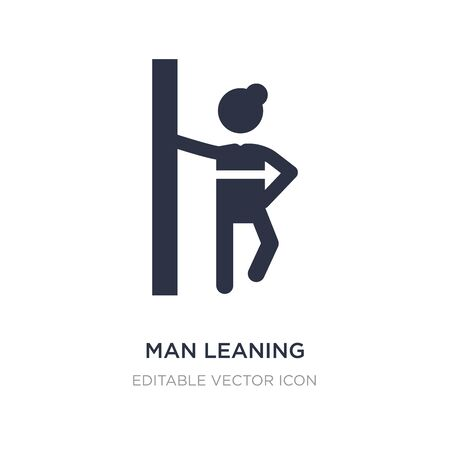 man leaning against the wall icon on white background. Simple element illustration from People concept. man leaning against the wall icon symbol design.
