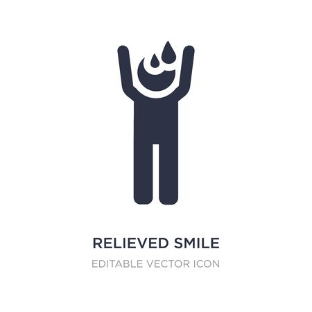 relieved smile icon on white background. Simple element illustration from People concept. relieved smile icon symbol design.