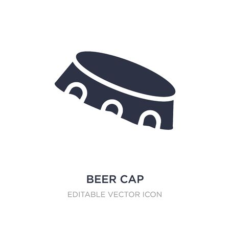 beer cap icon on white background. Simple element illustration from Miscellaneous concept. beer cap icon symbol design.