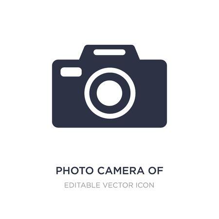 photo camera of rounded square shape icon on white background. Simple element illustration from Tools and utensils concept. photo camera of rounded square shape icon symbol design.