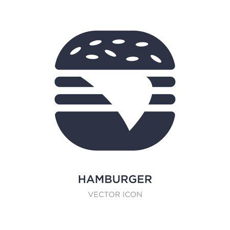 hamburger icon on white background. Simple element illustration from American football concept. hamburger sign icon symbol design.