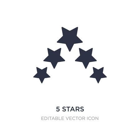 5 stars icon on white background. Simple element illustration from Shapes concept. 5 stars icon symbol design. 向量圖像