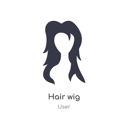 hair wig icon. isolated hair wig icon vector illustration from user collection. editable sing symbol can be use for web site and mobile app
