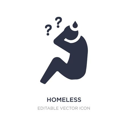 homeless icon on white background. Simple element illustration from Social media marketing concept. homeless icon symbol design.