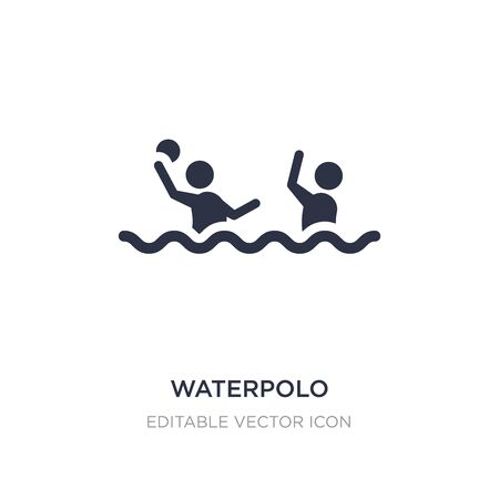 waterpolo icon on white background. Simple element illustration from Sports concept. waterpolo icon symbol design. Illustration