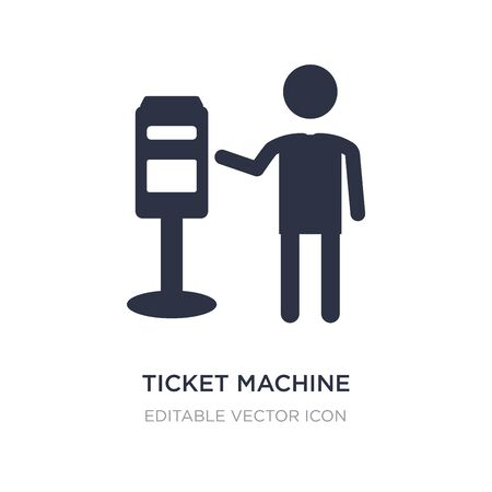ticket machine icon on white background. Simple element illustration from People concept. ticket machine icon symbol design.
