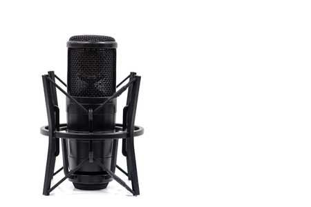 Studio microphone isolated on a white background. Condenser