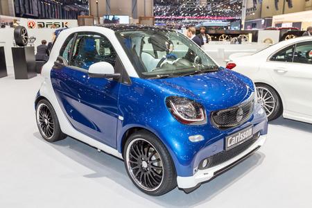 sportcar: Geneva, Switzerland - March 4, 2015: 2015 Carlsson CK10 presented on the 85th International Geneva Motor Show Editorial