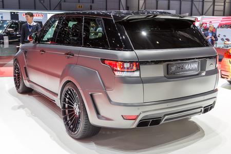 sportcar: Geneva, Switzerland - March 4, 2015: 2015 Hamann Range Rover Sport presented on the 85th International Geneva Motor Show Editorial