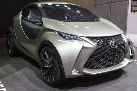 lexus: Geneva, Switzerland - March 4, 2015: 2015 Lexus LF-SA Concept presented on the 85th International Geneva Motor Show Editorial