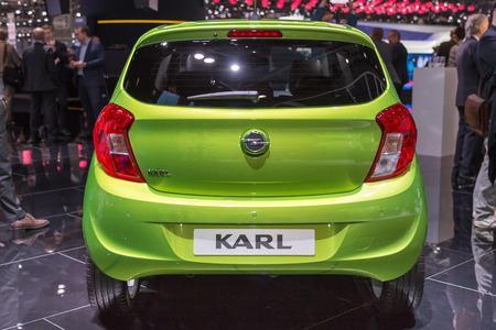 karl: Geneva, Switzerland - March 4, 2015: 2015 Opel Karl presented on the 85th International Geneva Motor Show