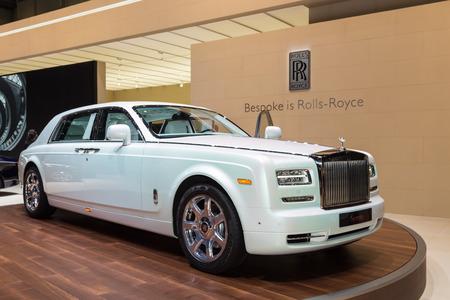 phantom: Geneva, Switzerland - March 4, 2015: 2015 Rolls-Royce Phantom Serenity presented on the 85th International Geneva Motor Show