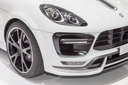 turbo: Geneva, Switzerland - March 4, 2015: 2015 TechArt Porsche Macan Turbo presented on the 85th International Geneva Motor Show Editorial