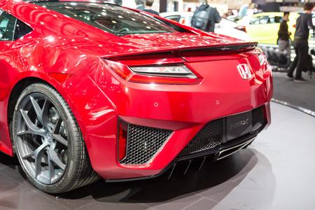 HONDA: Geneva, Switzerland - March 4, 2015: 2016 Honda NSX presented on the 85th International Geneva Motor Show
