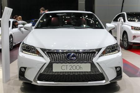 lexus: Geneva, Switzerland - March 2, 2014: 2014 Lexus CT 200h presented on the 84th International Geneva Motor Show