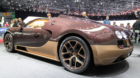rembrandt: Geneva, Switzerland - March 2, 2014: 2014 Bugatti Veyron Rembrandt Bugatti presented on the 84th International Geneva Motor Show