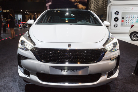 autoshow: Frankfurt, Deutschland - September 15, 2015: 2015 DS5 presented on the 66th International Motor Show in the Messe Frankfurt Editorial