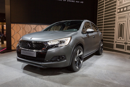 messe: Frankfurt, Deutschland - September 15, 2015: 2015 DS4 Crossback Concept presented on the 66th International Motor Show in the Messe Frankfurt Editorial