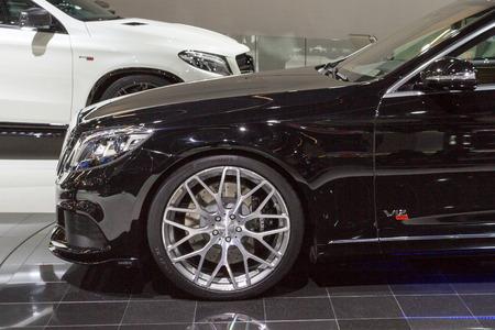 Frankfurt, Deutschland - September 15, 2015: 2015 Brabus Mercedes-Maybach Rocket 900 presented on the 66th International Motor Show in the Messe Frankfurt