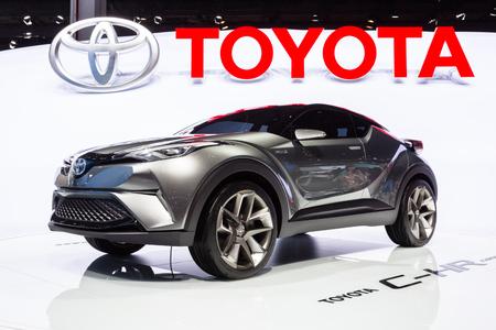 chr: Frankfurt, Deutschland - September 15, 2015: 2015 Toyota C-HR Concept presented on the 66th International Motor Show in the Messe Frankfurt Editorial