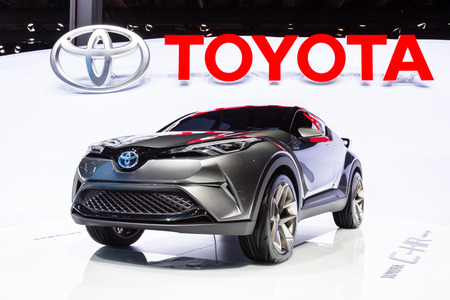 Frankfurt, Deutschland - September 15, 2015: 2015 Toyota C-HR Concept presented on the 66th International Motor Show in the Messe Frankfurt Editorial