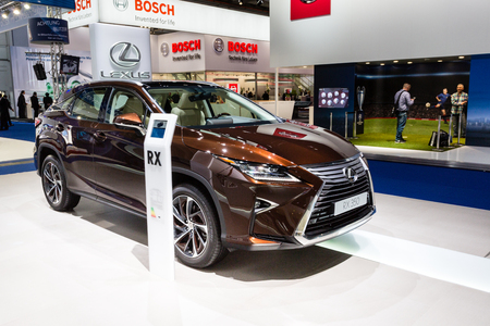 lexus: Frankfurt, Deutschland - September 15, 2015: 2016 Lexus RX 350 presented on the 66th International Motor Show in the Messe Frankfurt