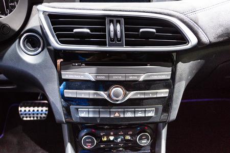 infiniti: Frankfurt, Deutschland - September 15, 2015: 2016 Infiniti Q30 presented on the 66th International Motor Show in the Messe Frankfurt