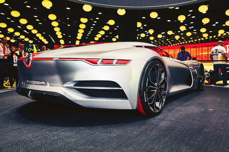 Paris, France - September 29, 2016: 2016 Renault Trezor Concept presented on the Paris Motor Show in the Porte de Versailles
