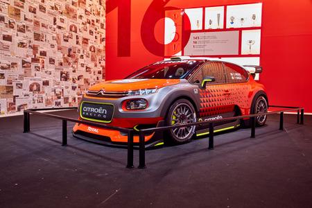 Paris, France - September 29, 2016: 2016 Citroen C3 WRC Concept presented on the Paris Motor Show in the Porte de Versailles