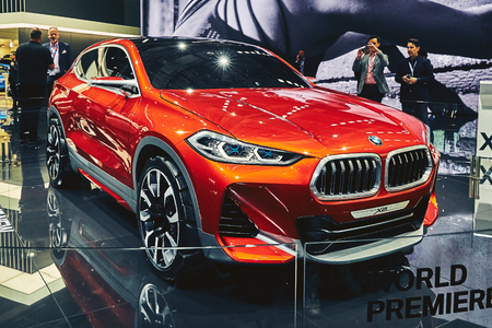 Paris, France - September 29, 2016: 2016 BMW X2 Concept presented on the Paris Motor Show in the Porte de Versailles