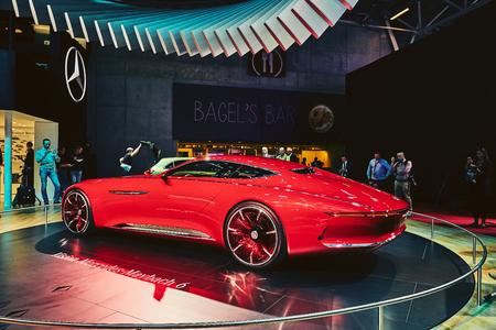 Paris, France - September 29, 2016: 2016 Mercedes-Maybach 6 Concept presented on the Paris Motor Show in the Porte de Versailles