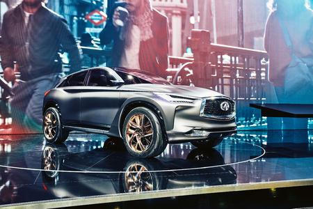 Paris, France - September 29, 2016: 2016 Infiniti QX Sport Inspiration Concept presented on the Paris Motor Show in the Porte de Versailles Editorial