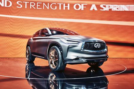 infiniti: Paris, France - September 29, 2016: 2016 Infiniti QX Sport Inspiration Concept presented on the Paris Motor Show in the Porte de Versailles Editorial