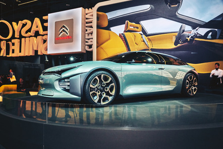 Paris, France - September 29, 2016: 2016 Citroen Experience Concept presented on the Paris Motor Show in the Porte de Versailles
